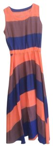 Orange Stripe Maxi Dress by