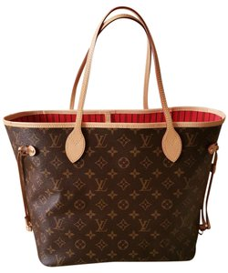Louis Vuitton Neverfull Mm Cherry Tote Shoulder Bag