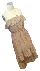 Poetry short dress Beige on Tradesy