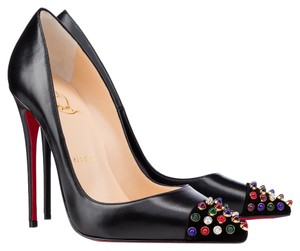 Christian Louboutin Leather Multicolor Cabo Black Pumps