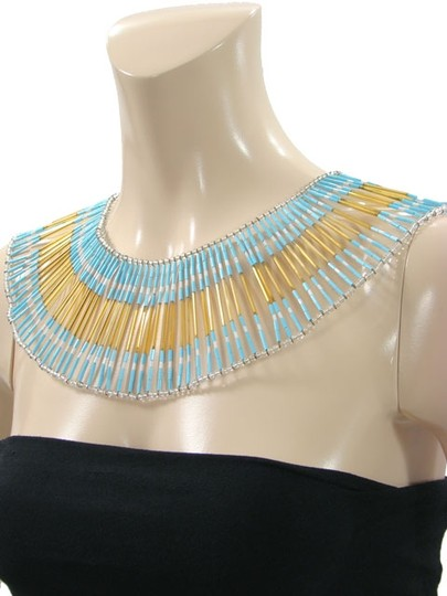 Future Ozbek Future Ozbek Jewelry - Blue, Gold and White Bead Necklace