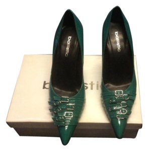 Ballistic Teal Pumps