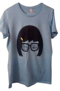 Bella Canvas Tina Belcher Bob's Burgers Large Plus Size T Shirt Powder Blue