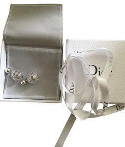 Dior AUTH BNIB SS 2015 DIOR MISE EN TRIBAL SILVER GANAGE EARRINGS