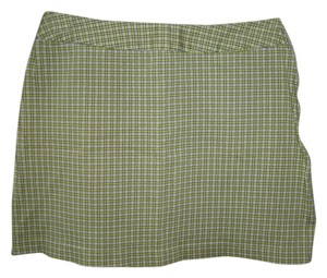 Express Mini Plaid Mini Skirt Green