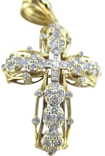 Preload https://item1.tradesy.com/images/gold-10kt-solid-yellow-cross-pendant-charm-1079940-0-0.jpg?width=440&height=440
