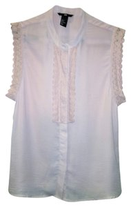 H&M Neutral Sleeveless Top DUSTY PINK