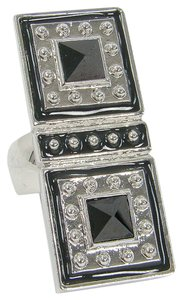 Lia Sophia Lia Sophia Jewelry - Silver Studded Wood Double Ring
