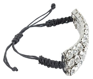 Max and Cleo Max & Chloe Jewelry - Stacked CZ Black Macrame Bracelet