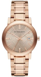 Burberry Nwt burberry the city gold ionplated watch