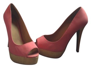 Mixit Sueded Peep-toe Size 8.5 Pink Pumps