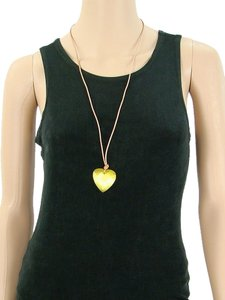 Moschino Moschino Cheap & Chic Jewelry - Yellow Glass Heart Necklace
