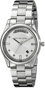 Michael Kors NWT Michael Kors women's silver tone stainless steel bracelet watch MK6067 $225