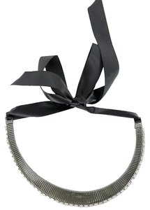 R.J. Graziano R.J. Graziano Jewelry - Gunmetal Baguette Necklace with Ribbon