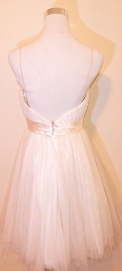 Melissa Sweet Ivory Silk Reverie By 'amalfi Feminine Wedding Dress Size 6 (S)
