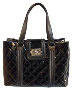 Chanel Leboy Shopping Shopping Tote in Black