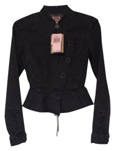 Juicy Couture Black Womens Jean Jacket