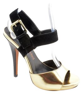 Luxury Rebel Black & Gold Pumps
