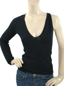 Alessandro Dell'Acqua One Shoulder V-neck Silk Knit Sweater