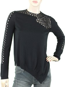 Alexander Wang Knit Fishnet Wool Sweater