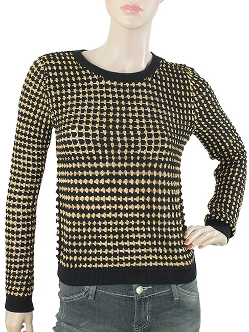 Preload https://item2.tradesy.com/images/alice-olivia-black-gold-knits-and-kelly-crew-neck-pullover-sweatshirthoodie-size-4-s-1080421-0-0.jpg?width=400&height=650