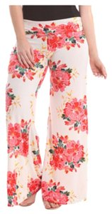 Independent Clothing Co. Wide Leg Pants Whote and pink