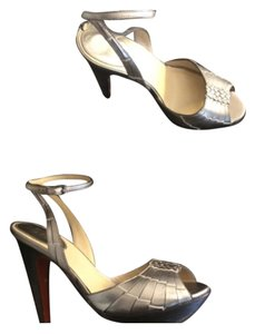 Cole Haan Metallic / Pewter / Gold Platforms