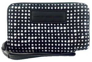 Marc by Marc Jacobs Marc By Marc Jacobs Nylon Black And White Star Print Wristlet Wallet New
