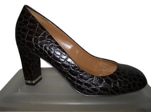 Talbots Leather Croc dark brown Pumps