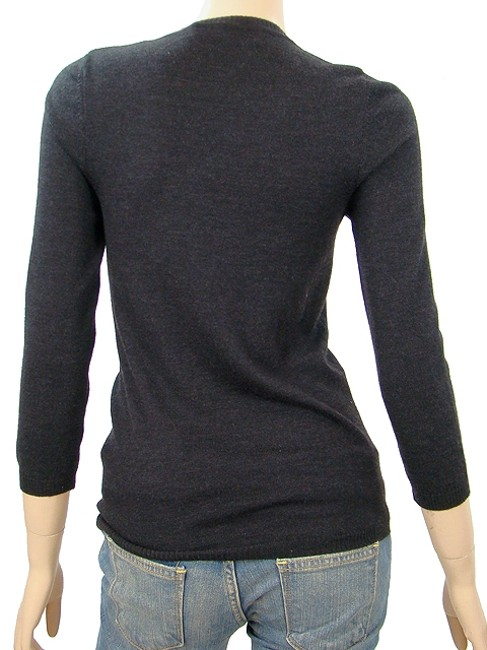 Carolina Herrera Crystal Wool Knit V-neck Sweater