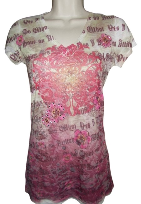 Preload https://item5.tradesy.com/images/multi-print-decorated-tee-shirt-size-4-s-1080519-0-0.jpg?width=400&height=650