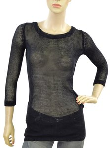 D&G Mesh Knit Fishnet Nylon Sweater