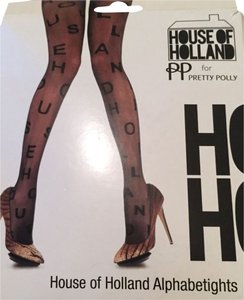 House of Holland Pretty Polly, House Of Holland, Black, Alphabet, Tights, Hhapt9, Leggings