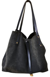 Tiffany & Co. Designer Leather Suede Reversible Like New Tote in Navy