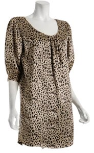 Cynthia Rowley Animal Print Silk Night Out Dress