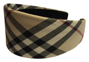 Burberry Brown multicolor Explosive Check plaid Burberry wide headband New