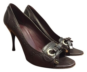 Gucci Women's Women's Open Toe Brown Pumps