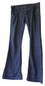 Blue Asphalt Trouser/Wide Leg Jeans-Dark Rinse