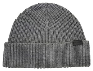 Coach COACH RIB KNIT HAT GREY- ONE SIZE