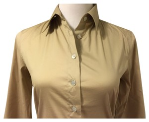 Chanel Button Down Shirt Beige