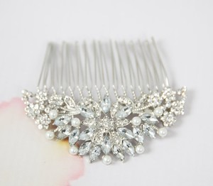 Vintage Inspired Bridal Wedding Art Deco Crystal Hair Comb