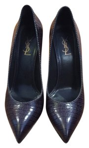 Saint Laurent Purple Pattern Pumps