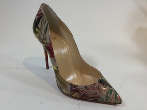 Christian Louboutin Pigalle Follies Marble Yellow, Red, Green Pumps