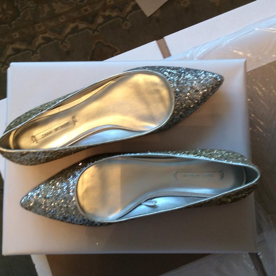 b673b6d1eee Zara Glitter Size 40 Silver and Gold Ombre Flats Image 11. 123456789101112