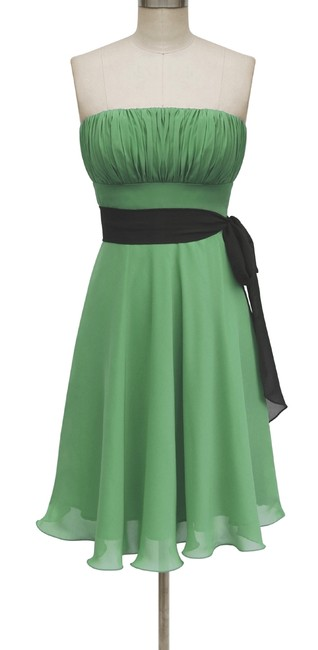 Preload https://item1.tradesy.com/images/green-strapless-chiffon-pleated-bust-w-sash-knee-length-formal-dress-size-22-plus-2x-108070-0-0.jpg?width=400&height=650