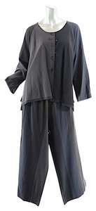 MILLER ET BERTAUX MILLER ET BERTAUX Black/Charcoal/Navy Wool Color-Block B/D Tunic+Pant Set - Sz 3