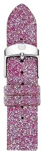 Michele Authentic Michele Hot Pink Glitter 16MM Leather Band Strap MS16AN620674