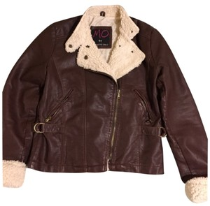 MO by Members Only Brown Leather Jacket