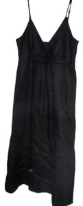 Black Maxi Dress by Liz Claiborne Short Sleeves Mid-length Below The Knees