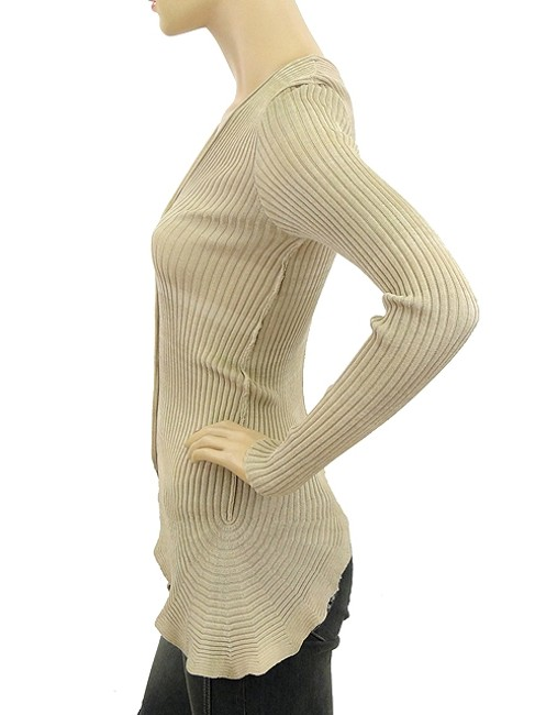 Jean-Paul Gaultier Knit Cardigan Gold Sparkle V-neck Sweater